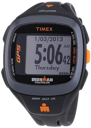 mode designer 877df 2acd8 Timex - T5K742HE - Ironman Run Trainer 2.0 - Montre GPS Homme - Bracelet  Résine - Alarme/Chronomètre - Moniteur de fréquence cardiaque