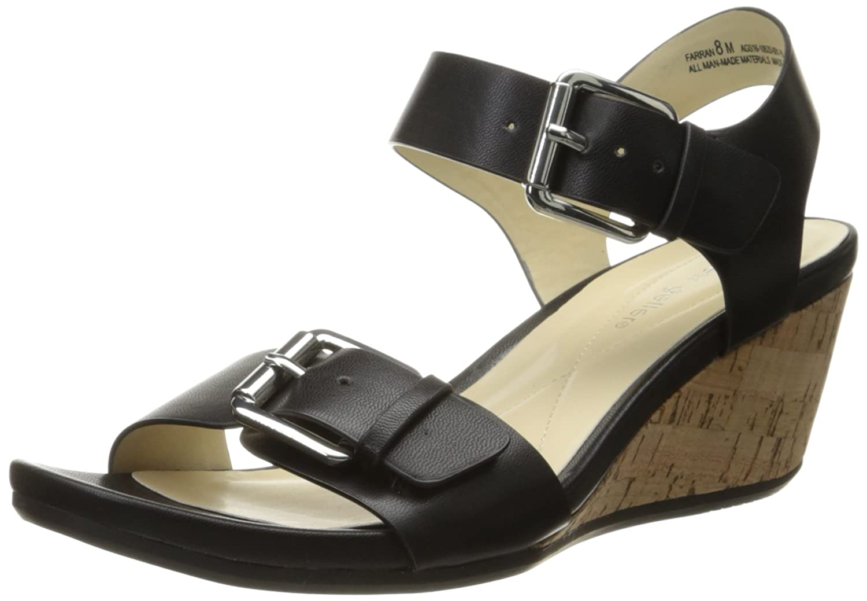 Andrew Geller Women's Farran Wedge Sandal B0199YD2XE 7.5 B(M) US|Black