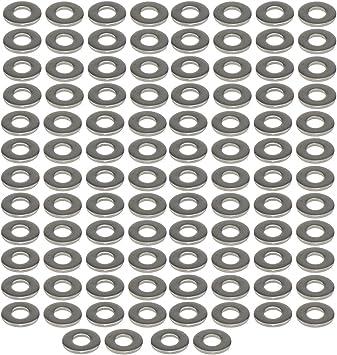 100pcs 304 Stainless Steel ID 3//16 OD 3//8 Flat Washer Plain Washer Sheet Metal Gasket Fastener M4X10X1
