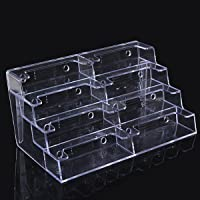 Charminer Hot 8 Pocket Desktop Clear Acrylic Business Card Holder Countertop Display Stand