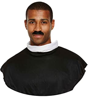 Mens Grey Priest Vicar Old Man Grandad Grandpa Fancy Dress Costume Wig Accessory
