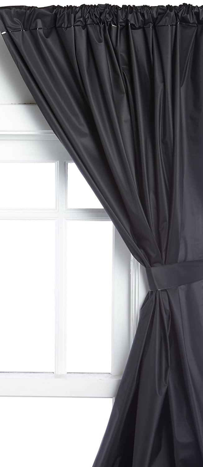 Amazon.com: Carnation Home Fashions Vinyl Bathroom Window Curtain, Black:  Home U0026 Kitchen