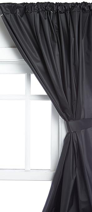 Curtains Ideas black window curtain : Amazon.com: Carnation Home Fashions Vinyl Bathroom Window Curtain ...