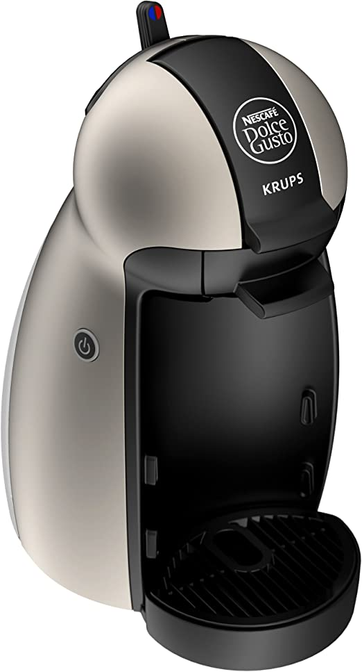 Nescafe Dolce Gusto by Krups KP1009 Piccolo Coffee Machine, Titanium