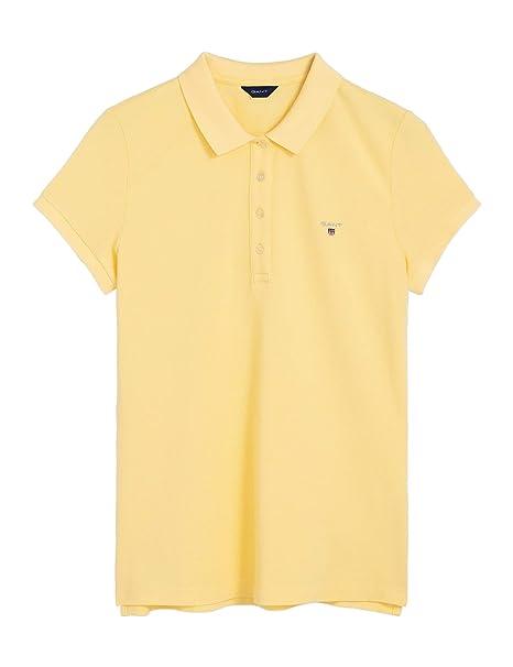 Gant 402201-Polo Mujer Amarillo 732 Lemon XL: Amazon.es: Ropa ...