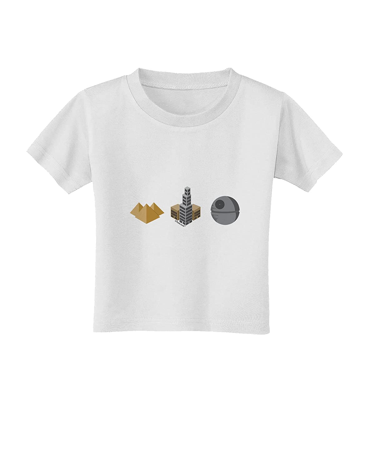 TooLoud History of Architecture Funny Sci-fi Toddler T-Shirt