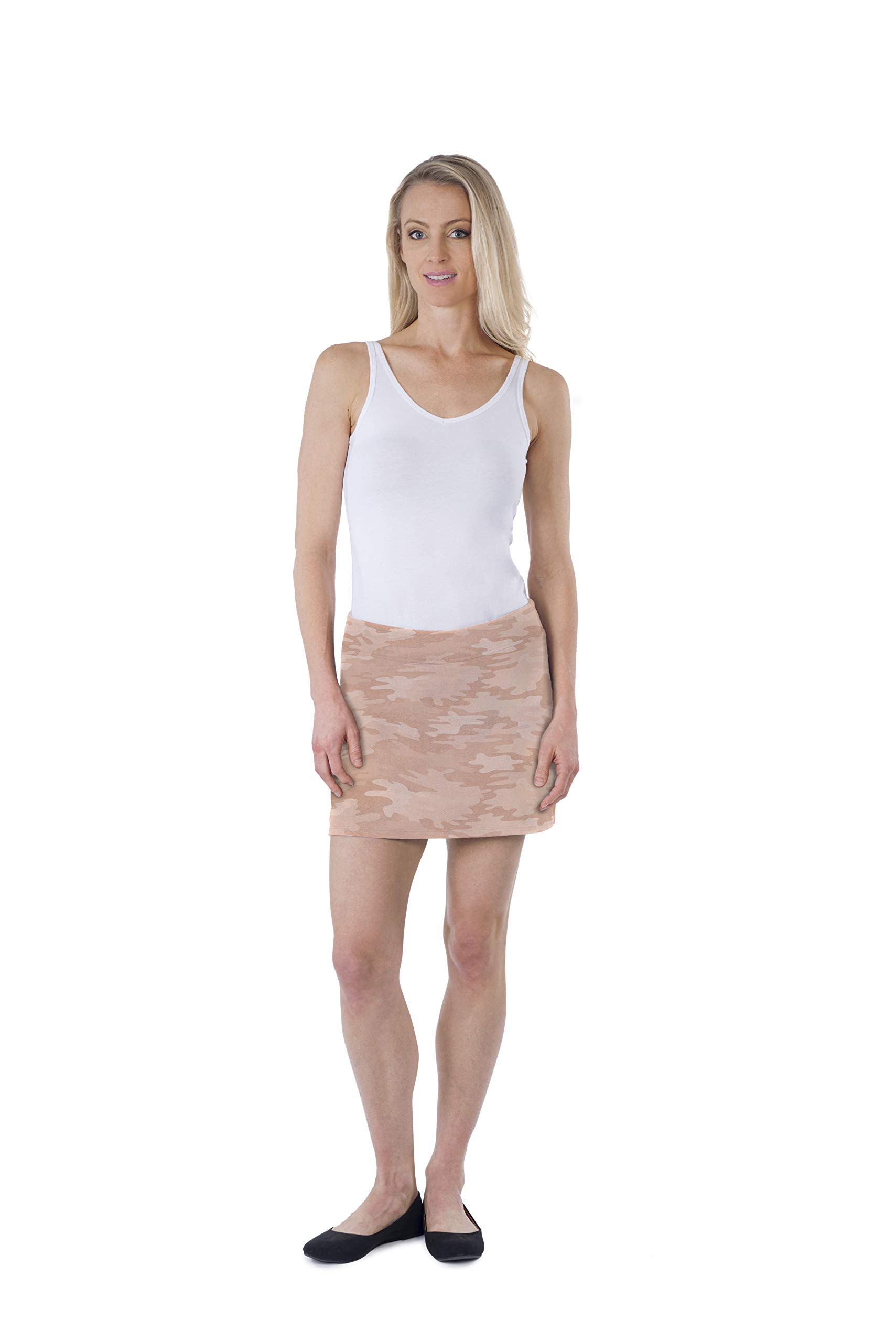 Colorado Clothing Women's Everyday Skort (Camo Rose Gold, S) by Colorado Clothing