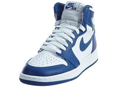 the latest 1b51e 2e392 Nike Air Jordan 1 Retro High OG BG- Chaussures de Basketball Garçon, Blanc (