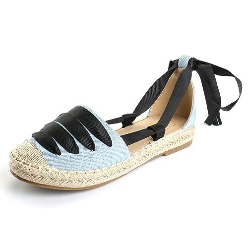 Alexis Leroy Alpargatas con Cordones a Rayas para Mujer: Amazon.es: Zapatos y complementos