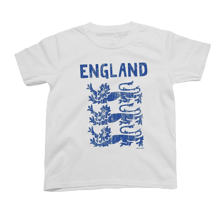 88569a0b Boys Girls T-Shirt England 3 Lions World Cup 2018 Football Kids Patriotic  English Retro