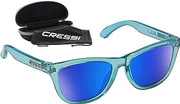 Cressi Leblon Sunglasses Gafas de Sol Deportivas con Estuche Rígido, Adultos Unisex, Hielo Crystal-Lentes Espejadas Azul, Un Tamaño: Amazon.es: Deportes y aire libre