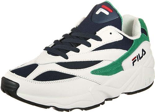 Fila V94M W Shoes White/Navy/Shade Glade: Amazon.co.uk ...