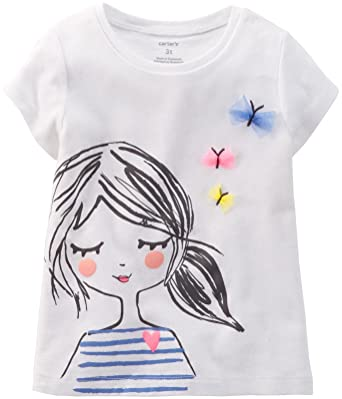 e8cd0f4f7 Amazon.com: Carter's Little Girls' Graphic Tee (Toddler/Kid): Clothing