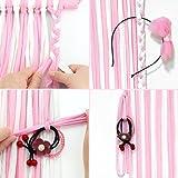 QtGirl 45.8in Hair Bow Holder Organizer Hanger Clip Storage Long Headband Holders for Baby Girls Room Door Wall