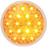 """Grand General 76018 LED Light (4"""" Round Amber 18 with Clear Lens and 3-Prong Round Plug)"""