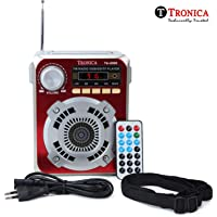 Tronica Logan Bluetooth/FM/AUX/Pen Drive MP3 Rechargeable Speaker with Digital Display (Red)