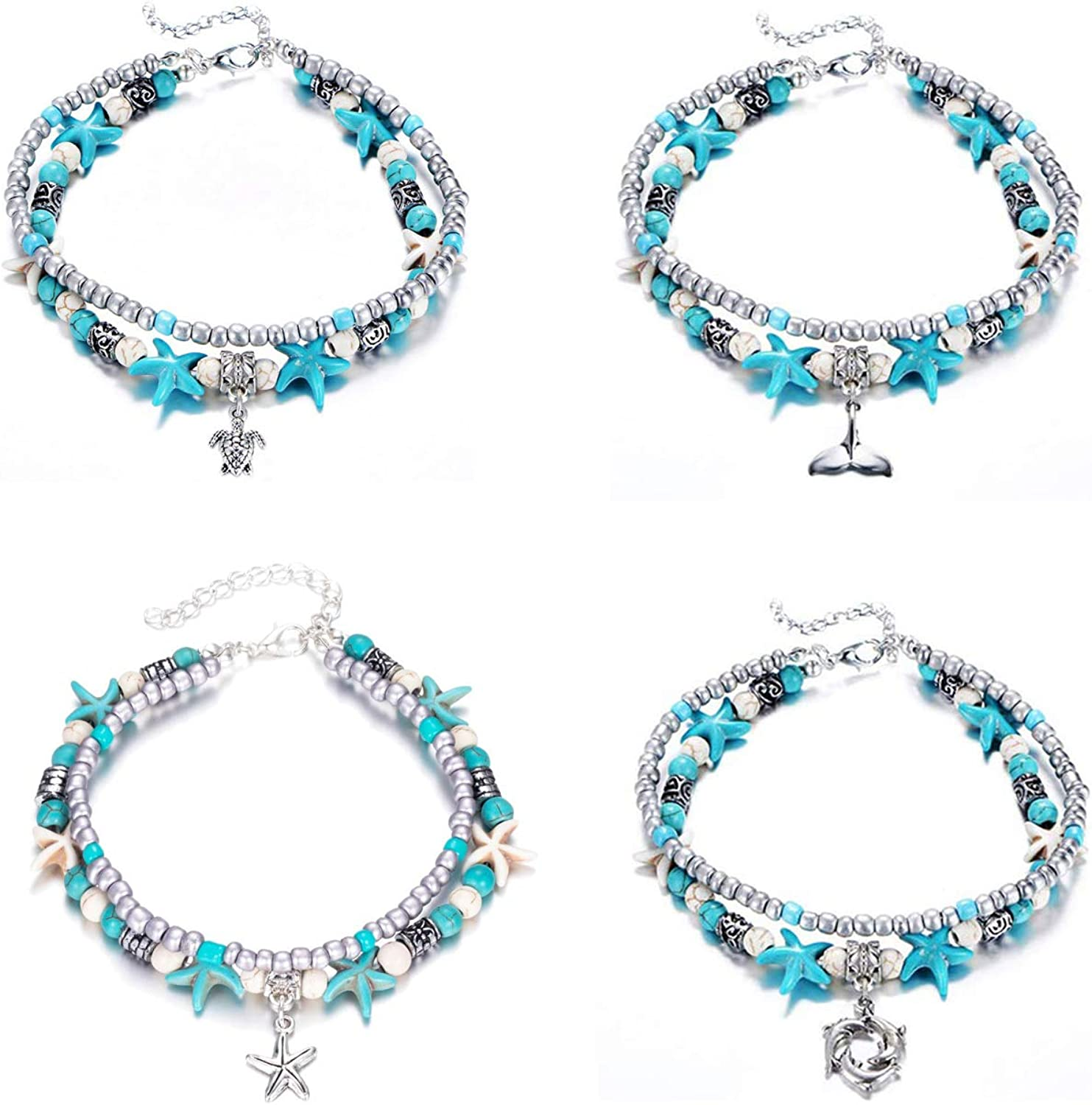Yotarky 4 Pack Blue Turtle...