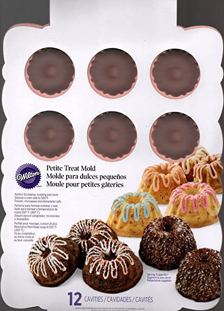 Amazon.com: Wilton Silicone Petite 12 Cavity Mini Bundt Cake ...