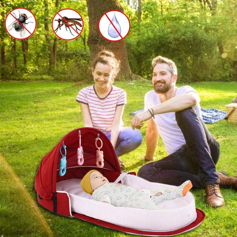 Tragbare Reise-Baby-Krippen azurely Baby Nest Baby Sicherheit Bett Wickeltasche Multifunktions Bb Outdoor Klappbett Reisebett 0-2 Jahre Alt