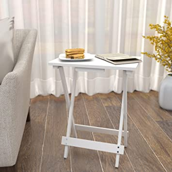 a9bf2d61b8e6fd Lifewit Table d Appoint à 2 Étages avec Panier de Rangement Brun (blanc)