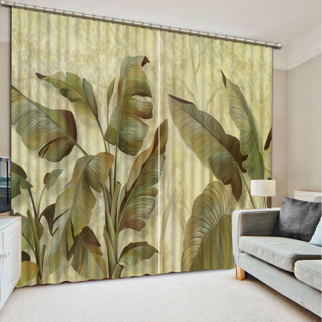 Sproud 3D Printing Curtains Lifelike Blackout Cortians Beautiful Full Light Shading Bedroom Livng Room Curtains 260Dropx200Wide(Cm) 2 pieces