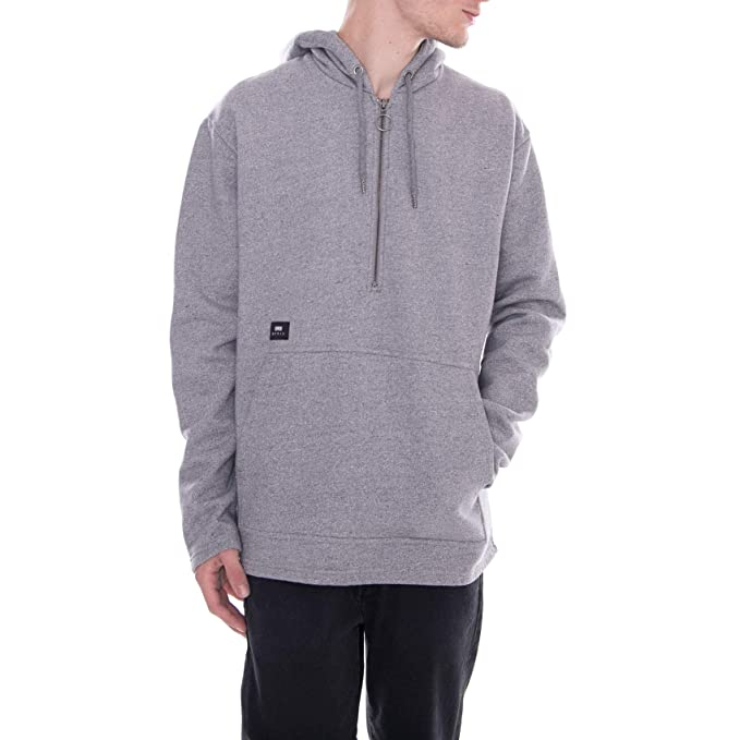 Edwin - Sudadera con Capucha - Zip Heavy Brushed Mouline - Gris (S)