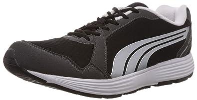 3776a81b9c59b2 Puma Men s Descendant v2 IND DP Black-Puma Silver Mesh Running Shoes - 10UK