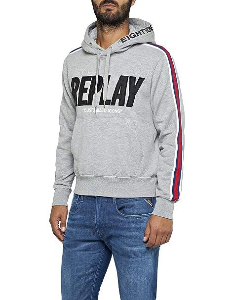 competitive price bdb5b 451a5 REPLAY Felpa Uomo: Amazon.it: Abbigliamento