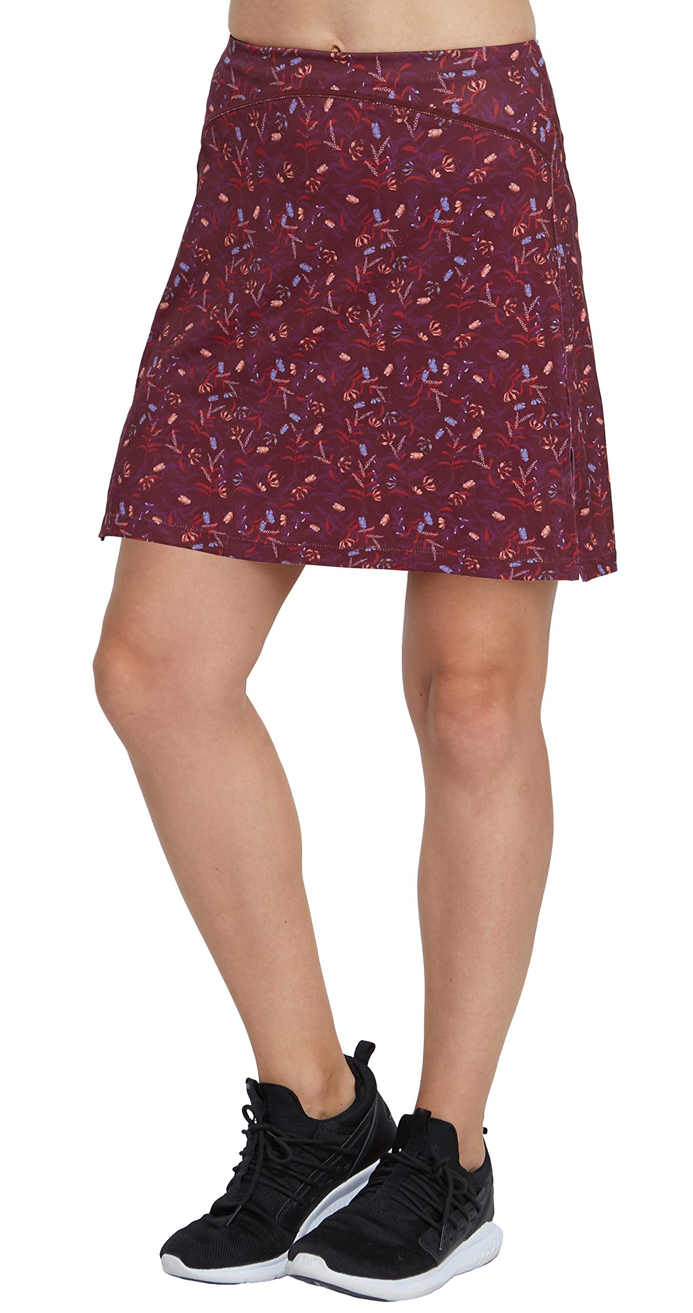 slimour Women Print Golf Skirt Travel Skirts with Pockets Swim Skirt High Waist with Shorts Red Iris L by slimour