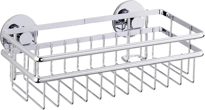 Wenko 22759100 Express-Loc Wall Shelf Cali, 9.8 x 3.0 x 5.7 inch, Shiny