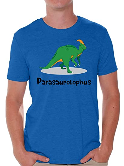 6de9eef8 Awkward Styles Parasaurolophus Dinosaur Tshirt for Men Funny Dinosaur Gifts  Blue S