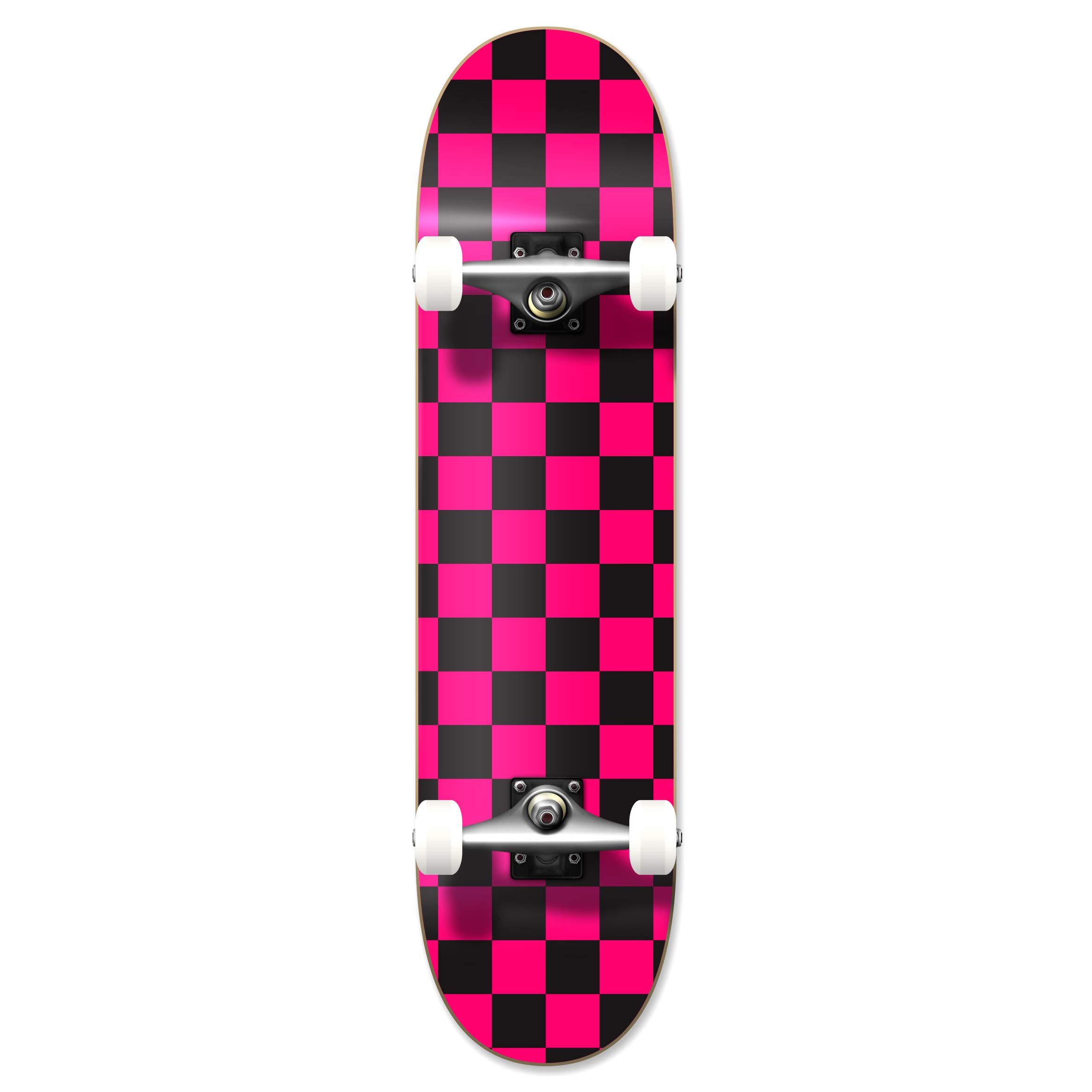 Yocaher Blank Complete Skateboard 7.75'' Skateboards - (Complete 7.75'' Checker Pink)