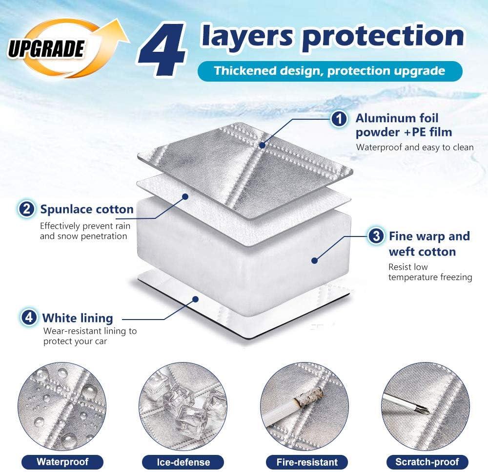 NIBESSER Pare Brise Voiture Anti UV Isolation Chaleur Protection Parebrise Couverture Pare Soleil Pliable Voiture Moyen Grande Taille
