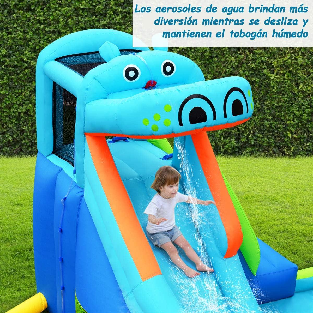COSTWAY Castillo Hinchable con Tobogán Parque Acuatico para Niños ...