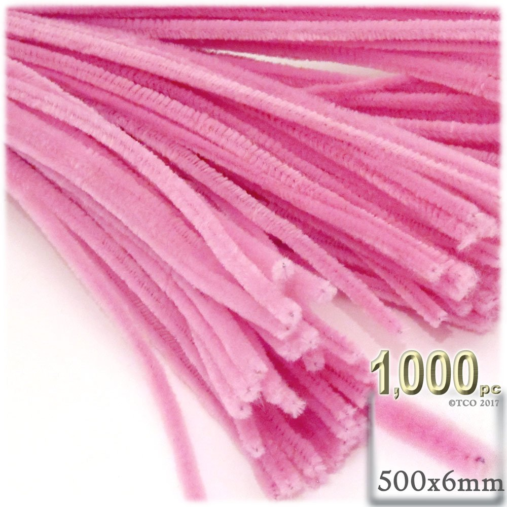 The Crafts Outlet Chenille Stems, Pipe Cleaner, 20-inch (50-cm), 1000-pc, Hot Pink by The Crafts Outlet (Image #1)