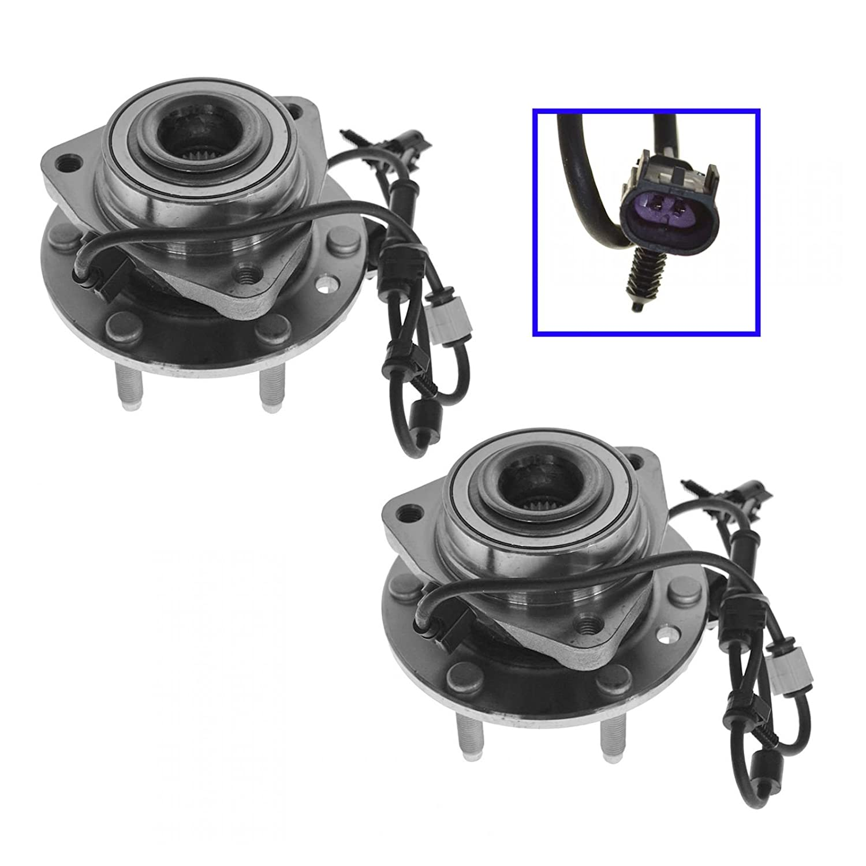 Front Wheel Hub & Bearing Pair Set for Trailblazer Envoy w/ABS 6 Lug AM Autoparts
