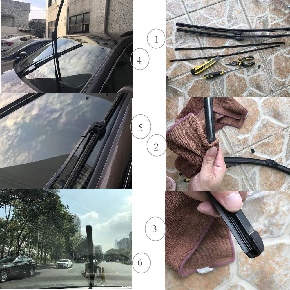 Windshield Wiper Blade Water 26 inches Pair//Set Front Bracketless Wiper Blade All-weather Wiper Blade for Volkswagen Touareg 2008-2016 Porsche Cayenne 2008-2016,7L6955425A