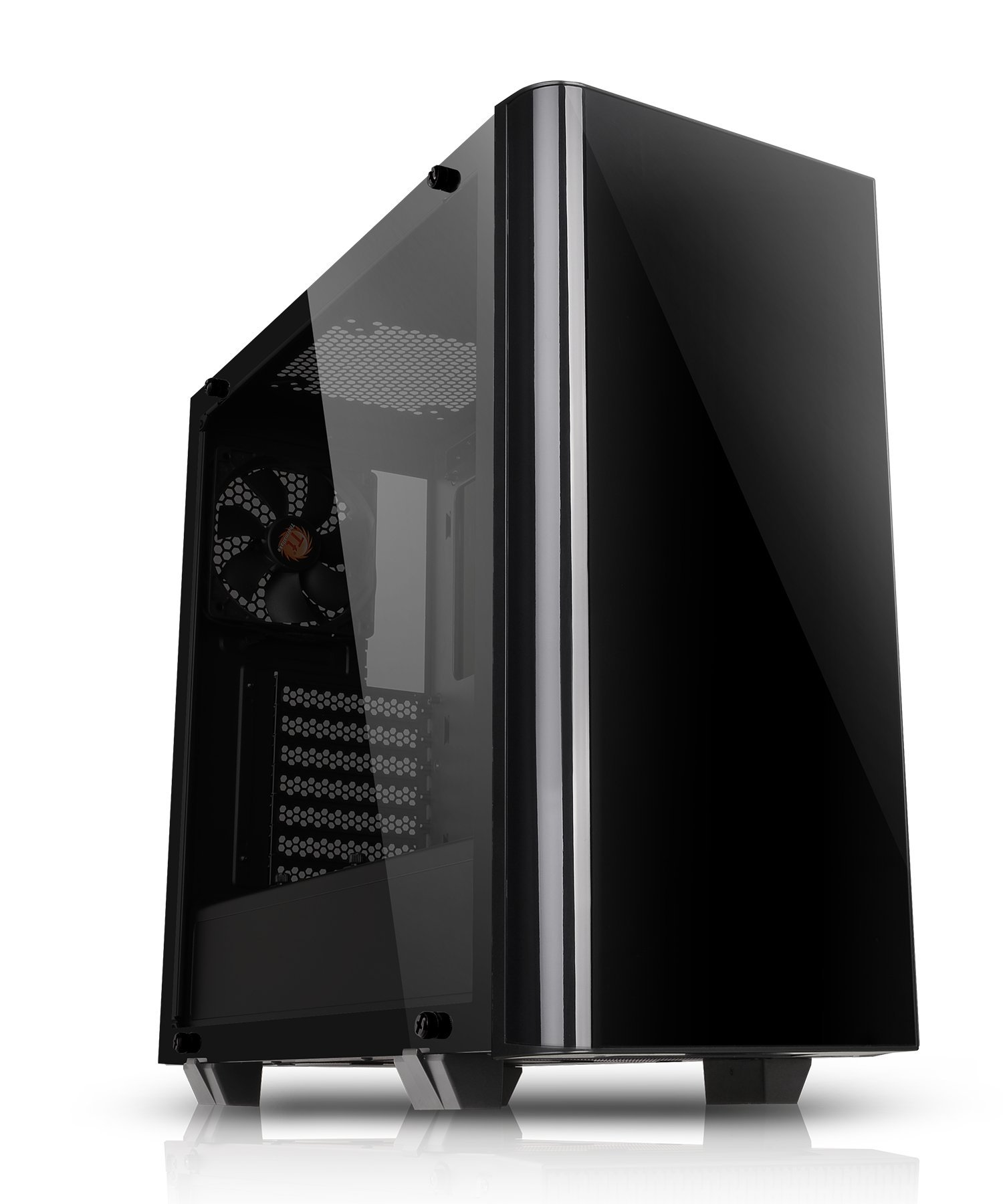 Thermaltake View 21 Dual Tempered Glass ATX Black Gaming Mid Tower Computer Case Chassis CA-1I3-00M1WN-00