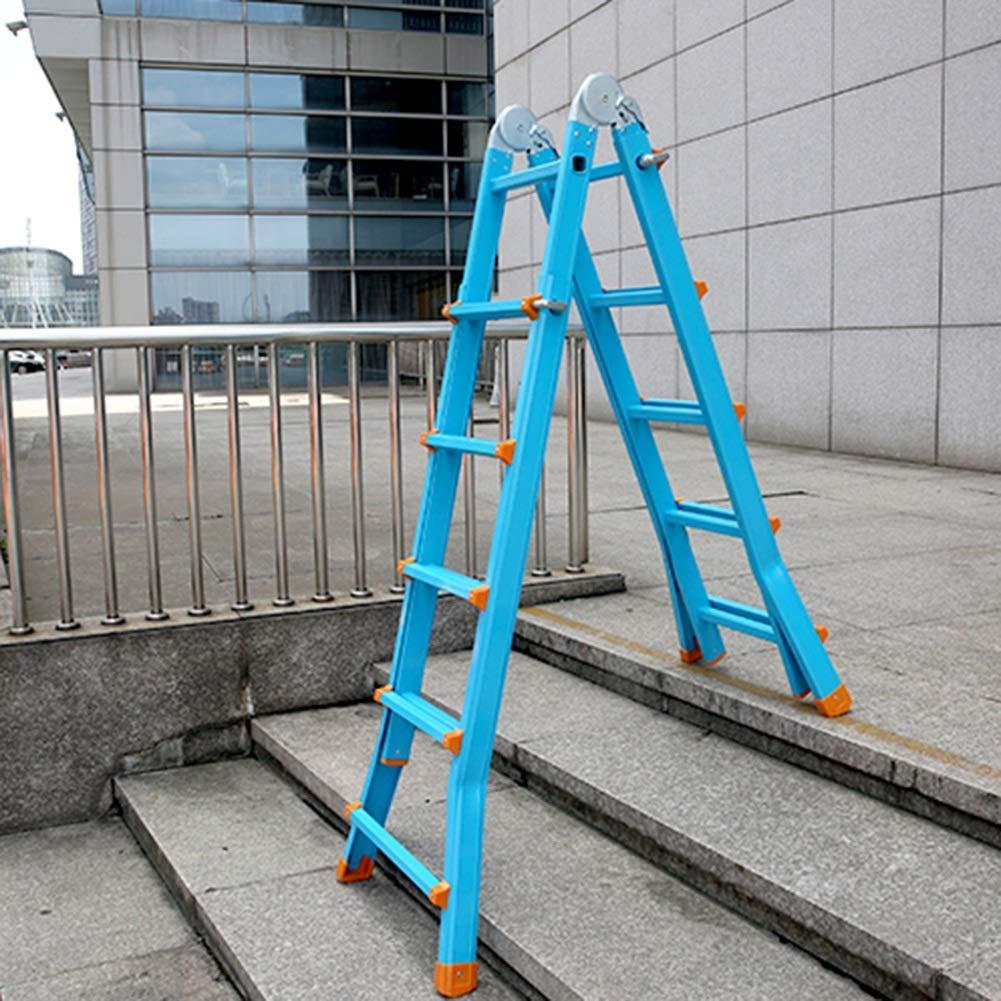 YIXINY Escalera De Aluminio Multifunción, Pequeña Escalera Gigante, Escalera Telescópica Plegable Estándar EN 131 Para Uso En Interiores Y Exteriores (Color : Four step ladder): Amazon.es: Bricolaje y herramientas