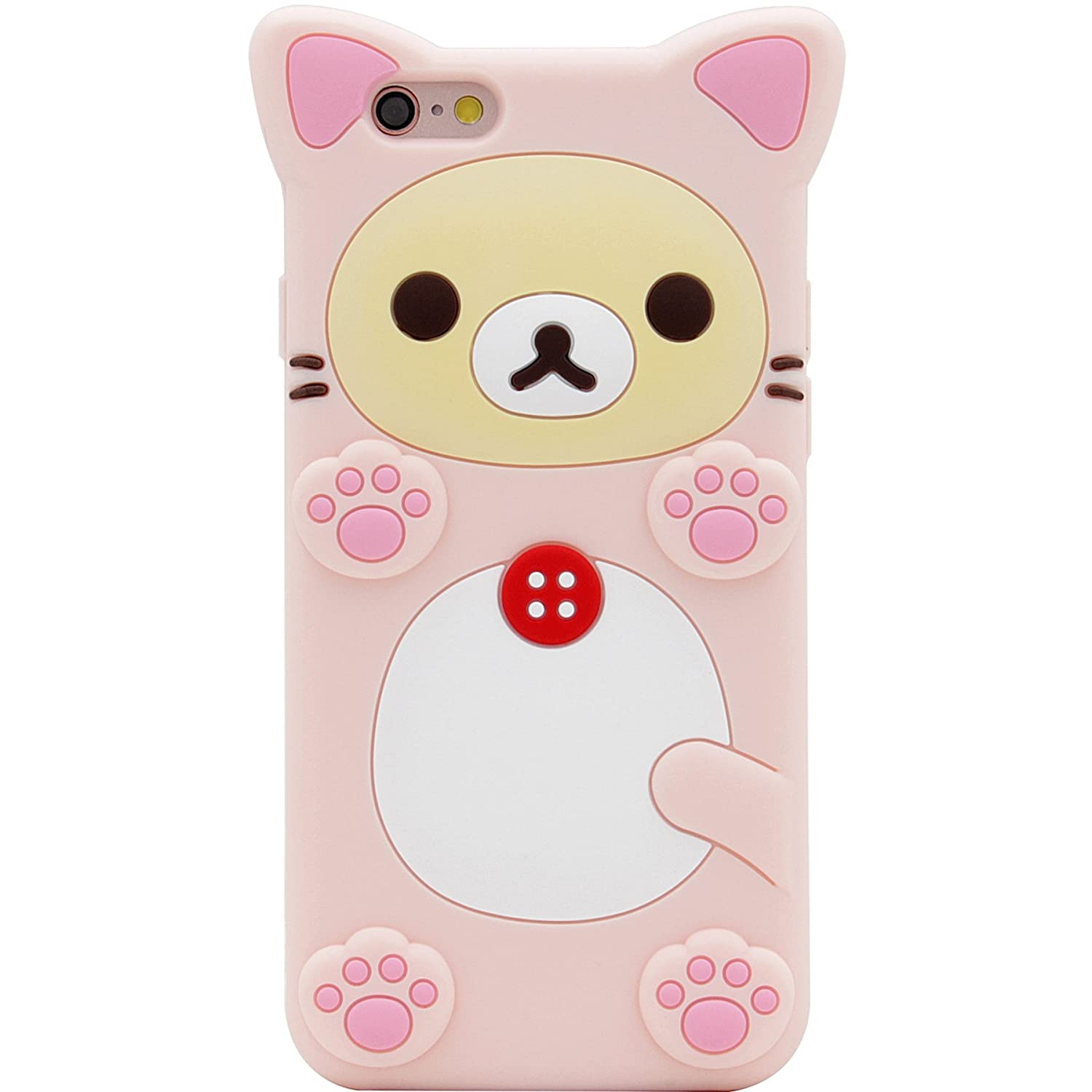 Mc Fashion 3 D Japanese Cartoon Rinkadoll Super Cute Soft Silicone Case Cover For Apple I Phone 6/6 S   Rilakkuma by Mc Fashion