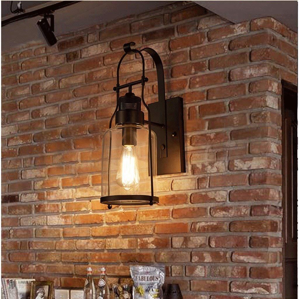 JU Loft Retro Industrie Industrie Industrie Wind Wandleuchte Kreative Flasche Wohnzimmer Restaurant Gang Schlafzimmer Cafe Glas Wandleuchte B07JX5ZZTL | Elegantes Aussehen  b07d1f