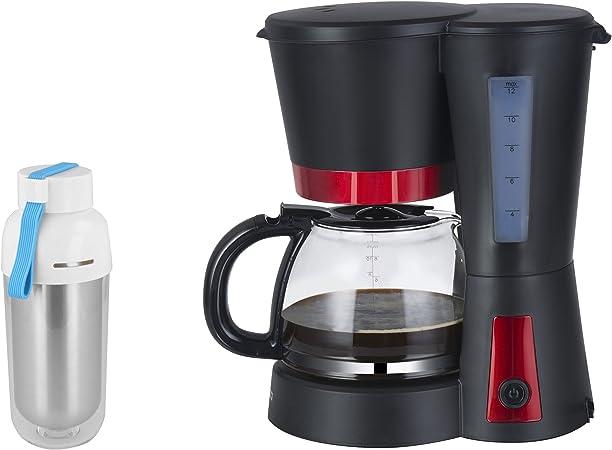 Set: Cafetera Eléctrica para filtros de café con tetera de cristal, placa calentadora y tanque de
