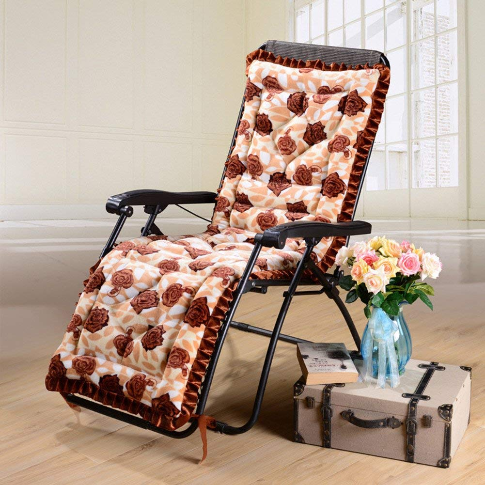 ZGYQGOO Lounge Chaise Kissen, Terrasse Liegestuhl Kissen, Sonnenliege Matratze für Garten Outdoor Indoor Sofa Tatami Auto Bank (nur Kissen) -braun 53x160cm (21x63inch)