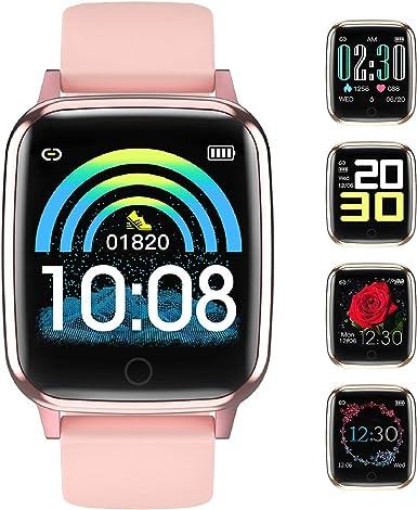 Smartwatch Reloj Inteligente Mujer Impermeable con Cronómetro, Pulsera Actividad Inteligente para Deporte, Reloj de Fitness con Podómetro Smart