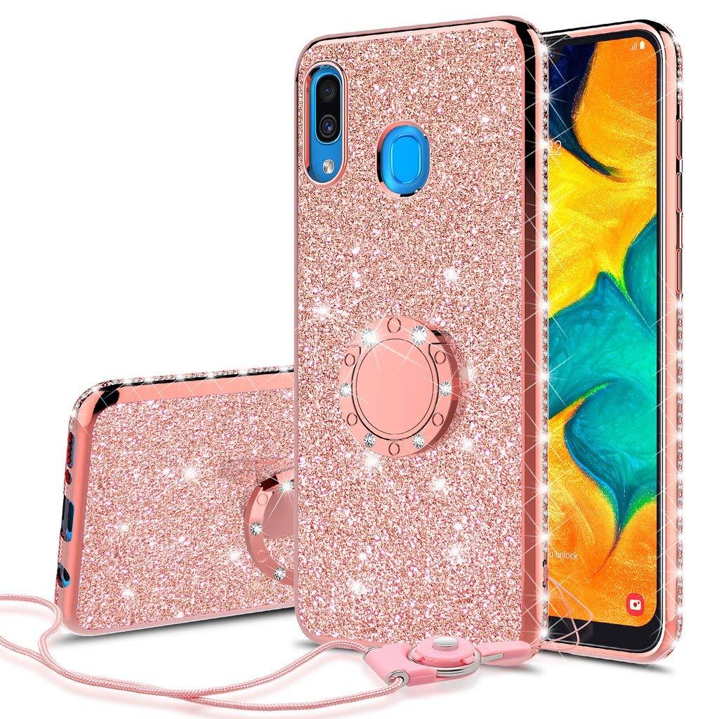 Funda para Samsung Galaxy A20 / A30 Glitter Con Pie GALAXY WIRELESS [7VYBH95W]