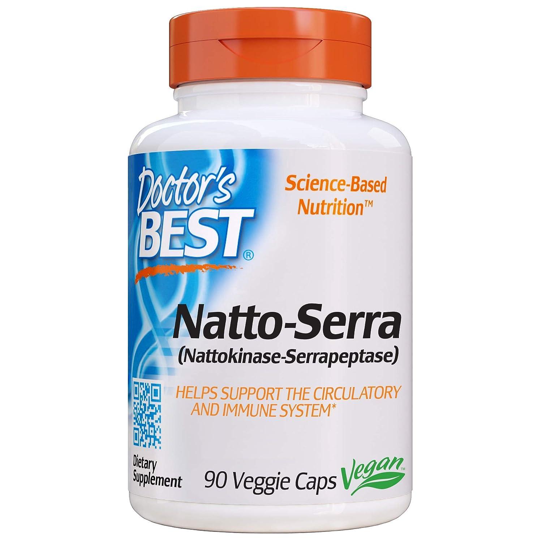 Doctor's Best Natto-Serra, Non-GMO, Vegan, Gluten Free, 90 Veggie Caps