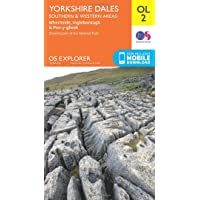 Amazon best sellers best yorkshire england travel books ordnance survey explorer ol 2 yorkshire dales southern western areas map fandeluxe Gallery