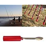 k-outdoor 竿掛け ロッドホルダー 竿置き フィッシュポールブラケット 挿地式 鯉釣り ステンレス コンパクト 携帯式 折畳