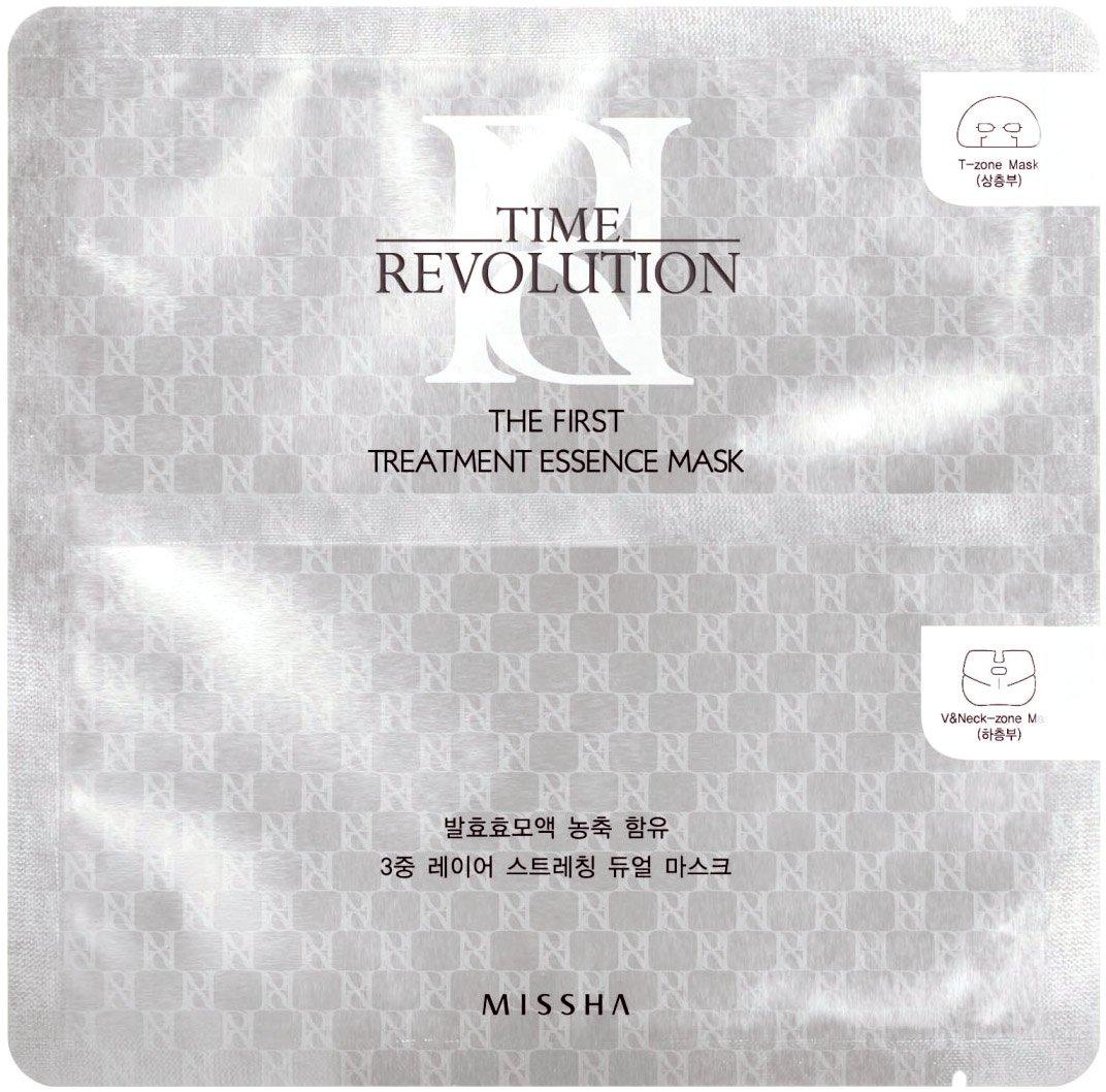 Missha Time Revolution The First Treatment Essence Mask T Zone 15ml V 18ml Beauty