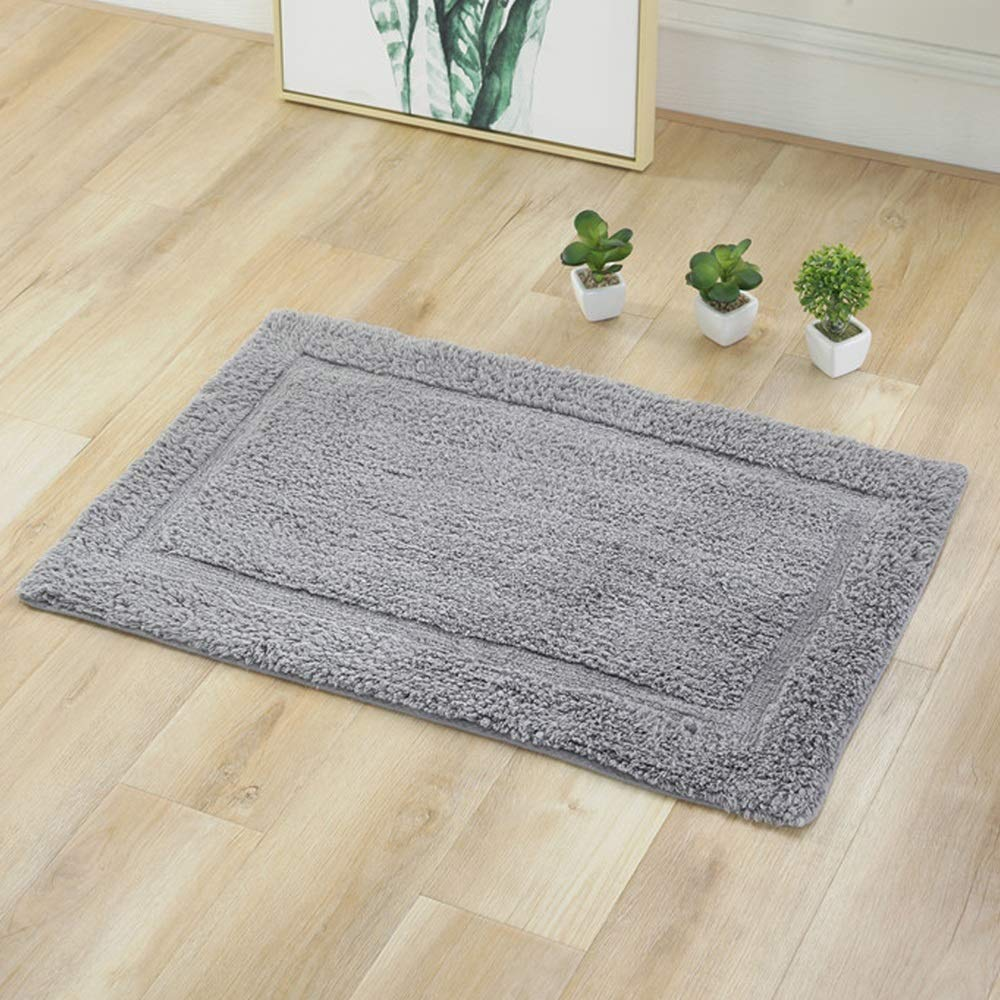AXIANQIMat Soft Mat Floor Mat Towel Bathroom Non-Slip Bathroom Door Mat Cotton Absorbent Long Hair Thickening Mat Washable Brown 5080cm 6090cm (Color : Gray, Size : 5080cm) by AXIANQIMat (Image #2)